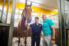 Sergio Garcia visits Jockey Club horse stable during Honma Hong Kong Open 2018 at Jackey Club, Shatin, Hong Kong, on 21  November 2018, Hong Kong SAR, China.  Photo by : Ike Li / Ike Images