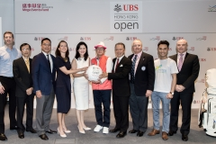 Press conference of UBS Hong Kong Golf Open 2016 Charity Cup at International Finance Centre II, Central, Hong Kong on 20 October 2016, Hong Kong, China Photo by Ike Li / Ike Images