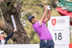 Shiv Kapur of India in Act during round 1 of 61st Edition Hong Kong Open at Hong Kong Golf Club, Fanling, New Territories, Hong Kong, on 9  January 2020, Hong Kong SAR, China.  Photo by : Ike Li / Ike Images