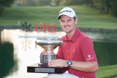 Trophy Ceremony of UBS Hong Kong Golf Tournament 2015