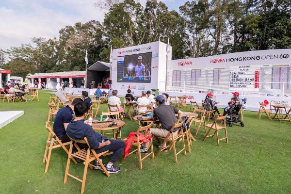 The atmosphere of spectator village during day 1 of Honma Hong Kong Open 2018 at Hong Kong Golf Club, Fanling, NT., Hong Kong, on 22  November 2018, Hong Kong SAR, China.  Photo by : Ike Li / Ike Images