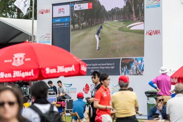 Atmosphere of spectator village during day 3 of Honma Hong Kong Open 2018 at Hong Kong Golf Club, Fanling, NT., Hong Kong, on 24  November 2018, Hong Kong SAR, China.  Photo by : Ike Li / Ike Images