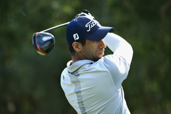 DUBAI, UNITED ARAB EMIRATES - JANUARY 26:  Aaron Rai of England takes his tee shot on hole five during Day Three of the Omega Dubai Desert Classic at Emirates Golf Club on January 26, 2019 in Dubai, United Arab Emirates.  (Photo by Andrew Redington/Getty Images)